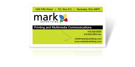 Mark Advertising Business Card Template
